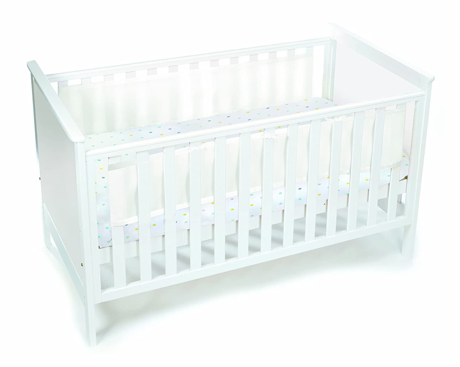 BreathableBaby 2 Sided Cot Mesh Liner (Grey Mist) 18318