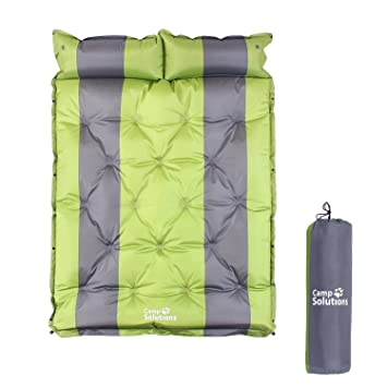 Camp Solutions Saco de dormir doble autohinchable de 18 ...