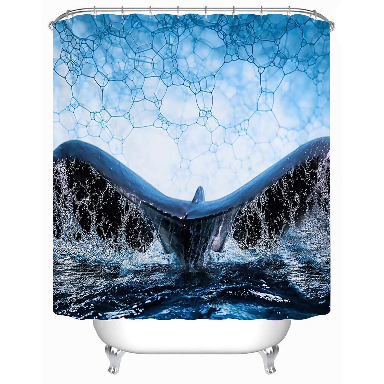 "Cheerhunting Colorful Cactus Shower Curtain 72/""W x 72/""H Waterproof Fabric Bathroom D/écor Bathroom Accessories Hooks Bathroom"