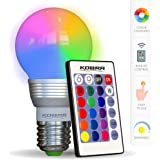 KOBRA LED Bulb Color Changing Light Bulb with Remote Control 16 Different Color Choices Smooth, Flash or Strobe Mode…