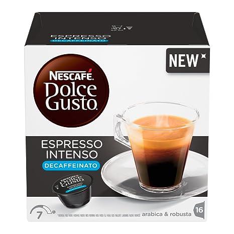 NESCAFÉ Dolce Gusto Café Espresso Intenso Descafeinado | 16 Cápsulas