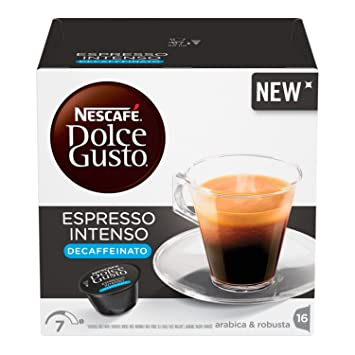 NESCAFÉ Dolce Gusto Café Espresso Intenso Descafeinado | 16 Cápsulas: Amazon.es: Amazon Pantry