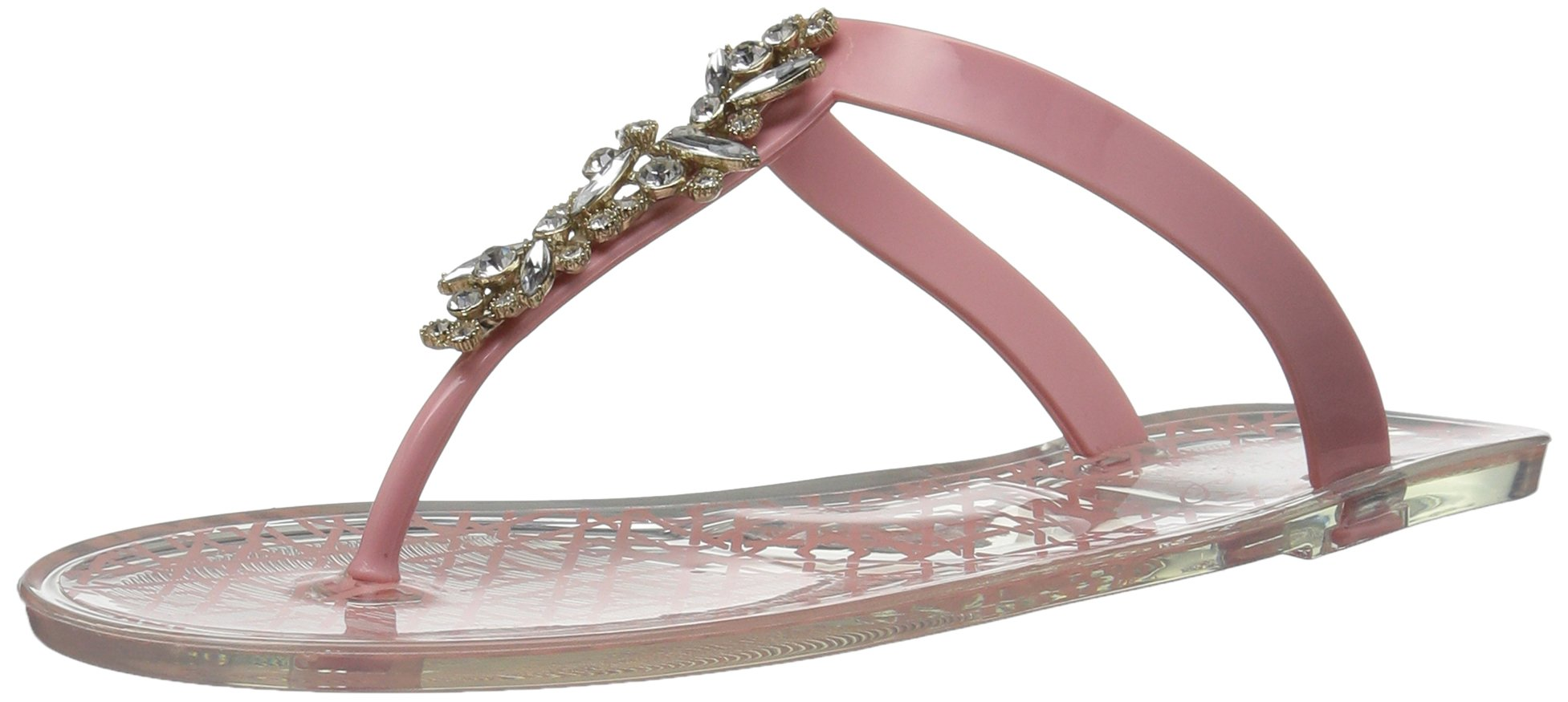 Badgley Mischka Jewel Women's Gracia Flat Sandal, Pale Pink, 10 Medium US by Badgley Mischka