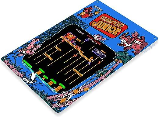 Signo de estaño final lucha Tienda de sala de juegos arcade marquesina Consola Decoración B068