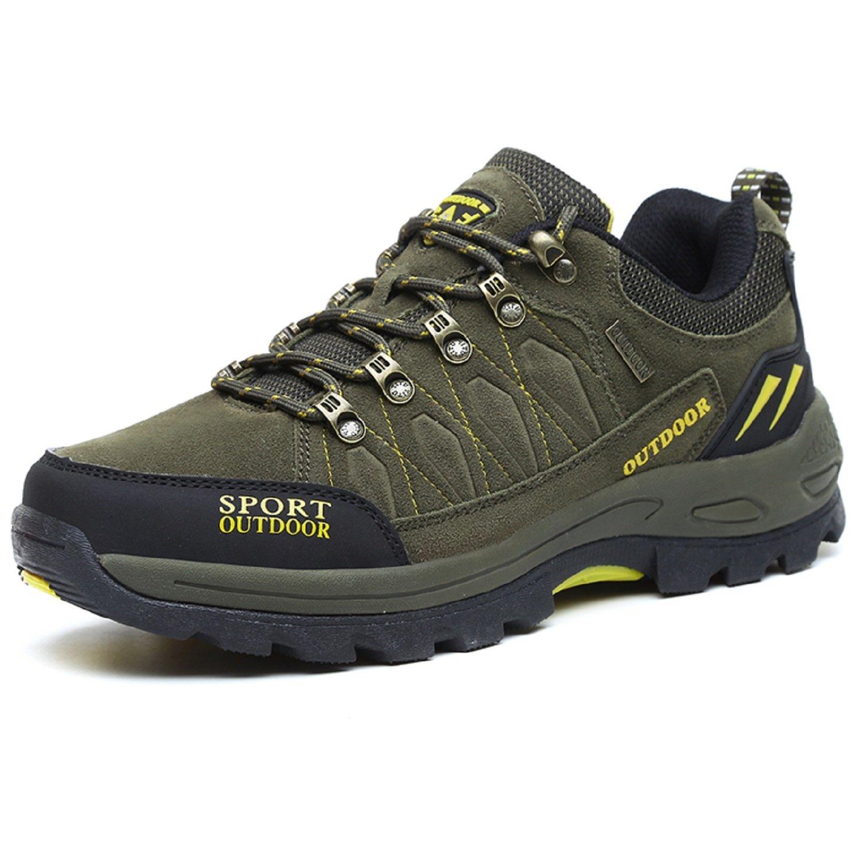 NEOKER Wanderschuhe Trekking Schuhe Herren Damen Sports Outdoor Hiking Sneaker Armee Gruuml;n Blau Schwarz Grau 36-48  (46EU) W?hle eine Gr??e gr??er|Armee-Gr眉n