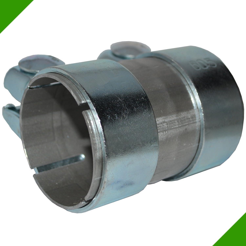 60 x 100 Tubo Conector de tubos de reparació n escape con banda acero abrazaderas Fröschl Autozubehör