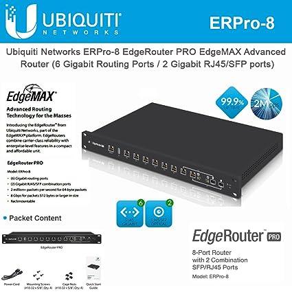 Amazon com: EdgeRouter PRO ERPro-8 Router 8-Port Gigabit