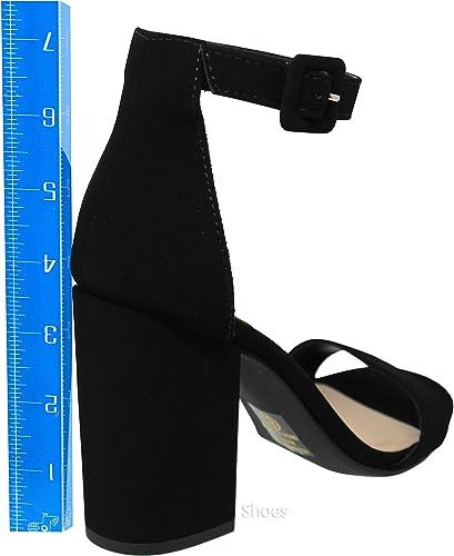 Details about  /Women Punk Open Toe Block Heel Platform Sandals Ankle Strap Summer Party Wen09