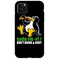 iPhone 11 Pro Max Sudo Rm Drink & Root Linux Tux Unix Insider programmer Case