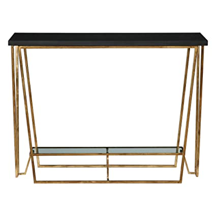 Awe Inspiring Amazon Com Vhomes Lights Agnes Black Granite Console Table Gamerscity Chair Design For Home Gamerscityorg