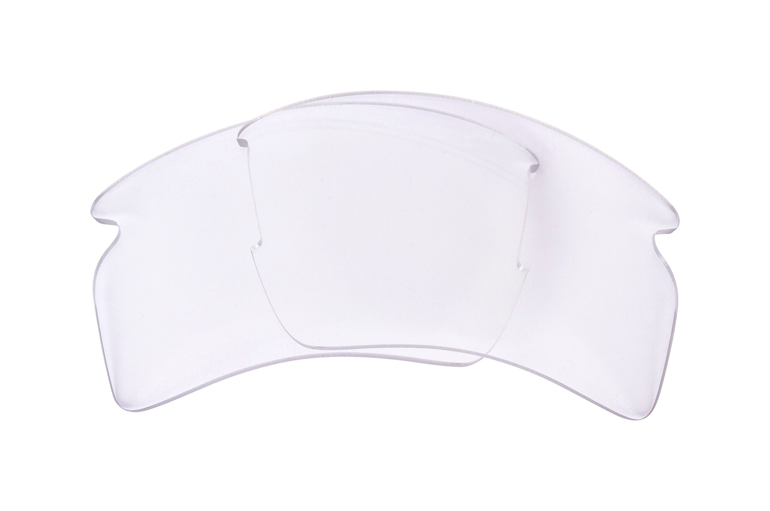 Seek Optics Replacement Lenses for Oakley FLAK 2.0 XL, Crystal Clear Non-polarized
