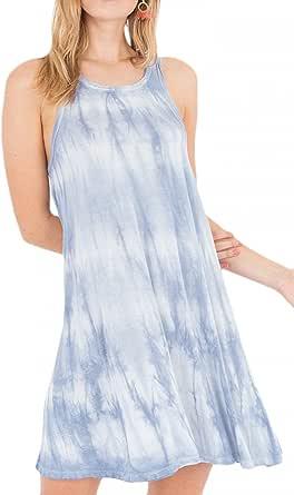 Z Supply ZD182393 The Tie Dye Dress in Parisian Blue