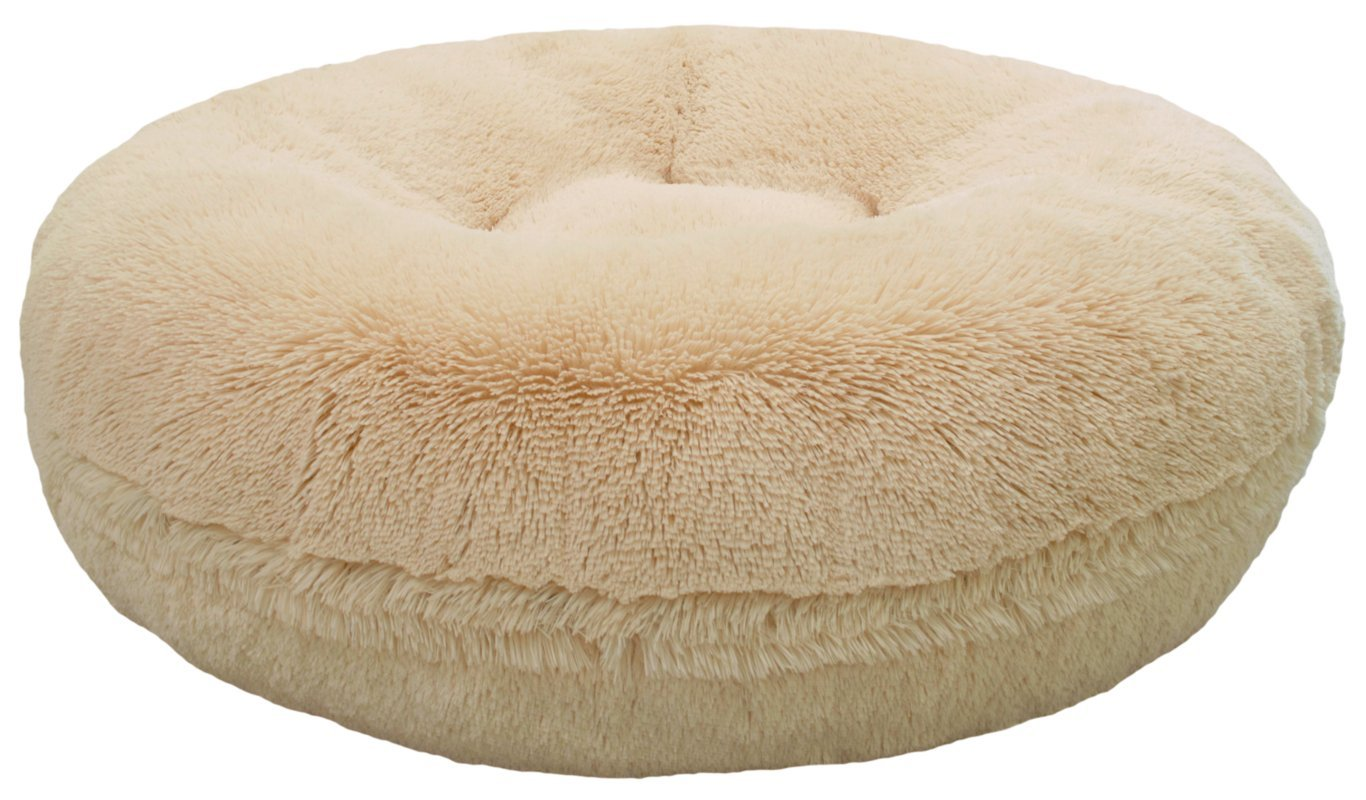 BESSIE AND BARNIE 60-Inch Bagel Bed for Pets, X-Large, Blondie
