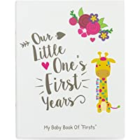 Ronica First Year Baby Memory Book & Baby Journal - Modern & Keepsake for New Parents to Record Photos & milestones - Five Year Scrapbook & Picture Album for boy & Girl Babies