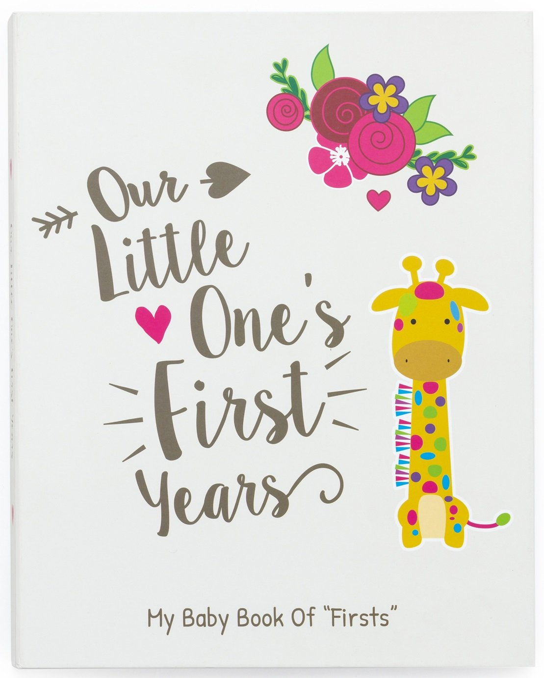 Ronica First Year Baby Memory Book Baby Journal – Modern Baby Shower Gift Keepsake for New Parents to Record Photos milestones – Five Year Scrapbook Picture Album for boy Girl Babies
