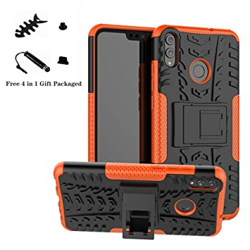LiuShan Honor 8X Funda, Heavy Duty Silicona Híbrida Rugged Armor ...