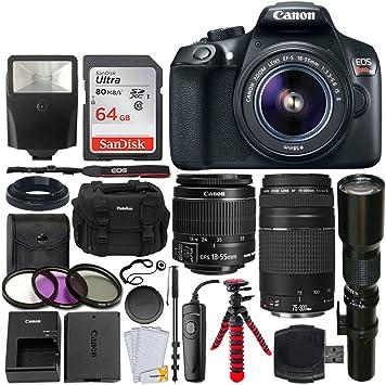 Amazon.com: Canon EOS Rebel T6 DSLR cámara + EF-S 0.709 ...