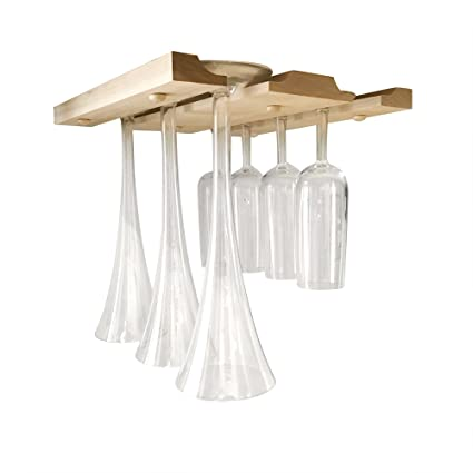 Amazoncom Smitco Wine Glass Holder Under Cabinet Hanging