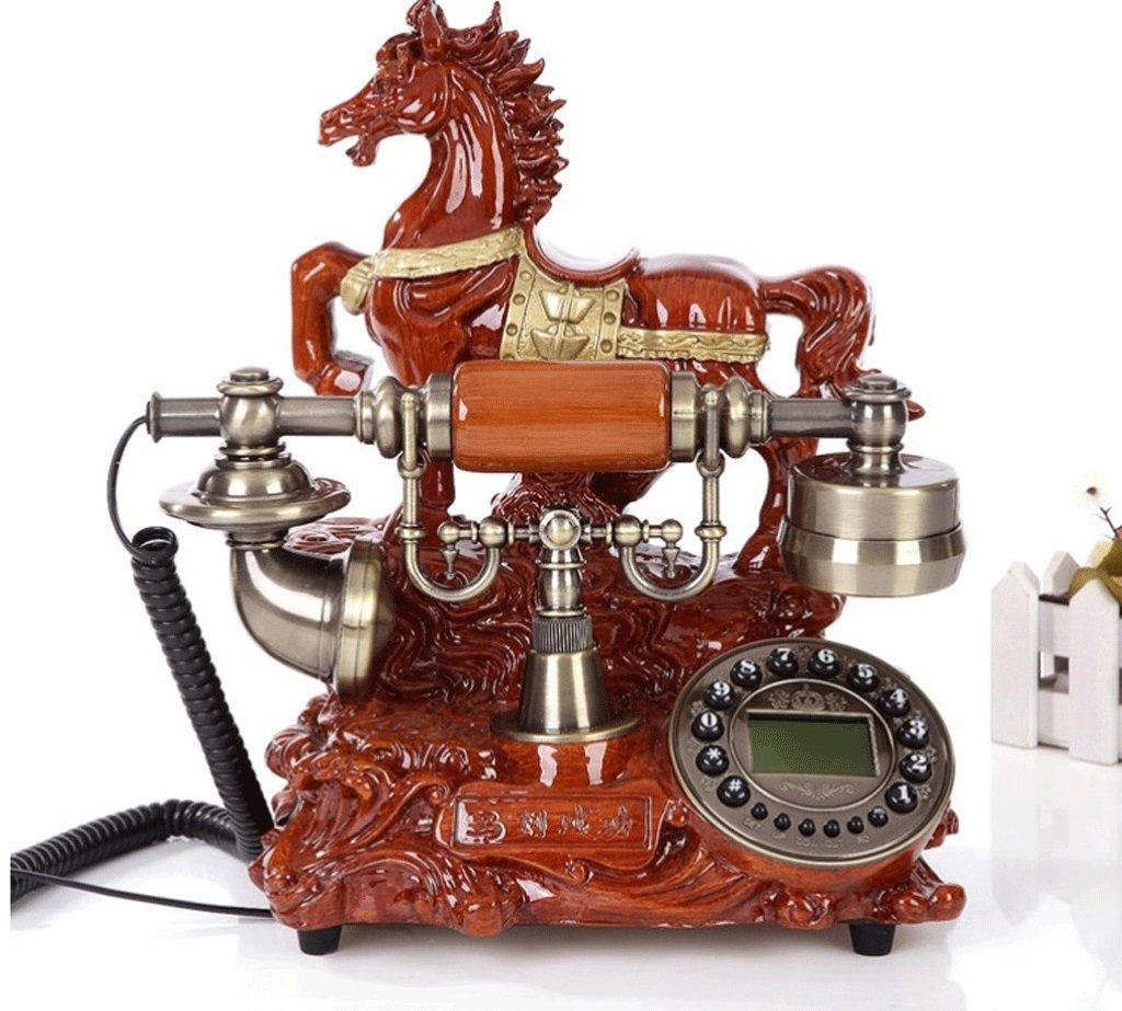DGF アンティーク電話 - rrrの着メロボタンのコンチネンタルスタイルメタルホームオフィス電話 - ファッション   B07B6NQC9T