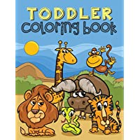 Toddler Coloring Book: Coloring Book for Toddlers Ages 1-3 (Animals, Cars, Trucks, Numbers and More)