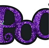 "Craig Bachman 14"" Glittered Spooky Sign: Purple"