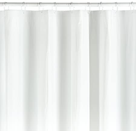Spirella Twill PVC Plastic Shower Curtain 180 X 200 Cm White