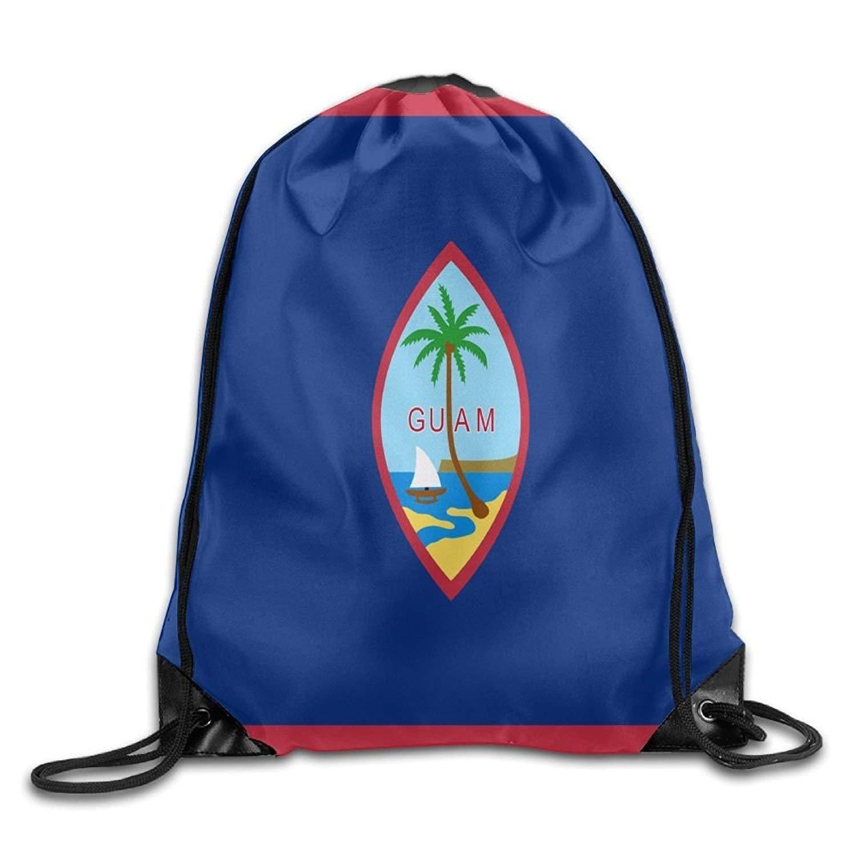 Flag Of Guam Cute Gym Drawstring Bags Travel Backpack Tote School Rucksack