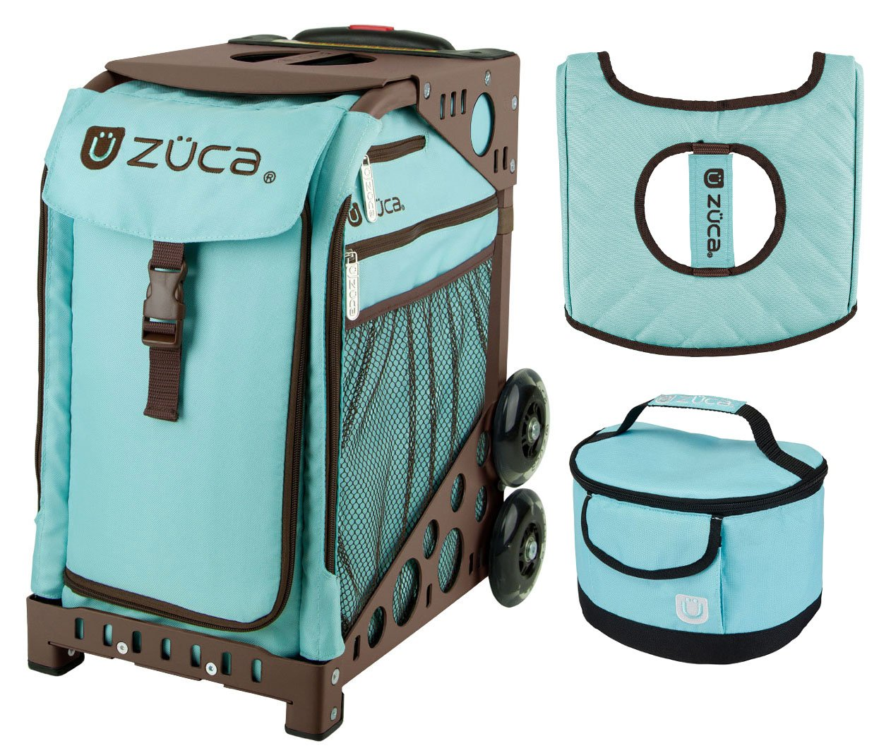 Zuca Sport Bag - Calypso with Gift Lunchbox and Seat Cover (Brown Frame)