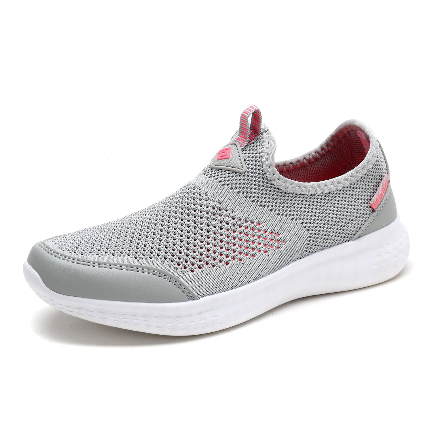DREAM PAIRS Women's C0189_W Lt.Grey Coral Fashion Running Shoes Sneakers Size 6 M US