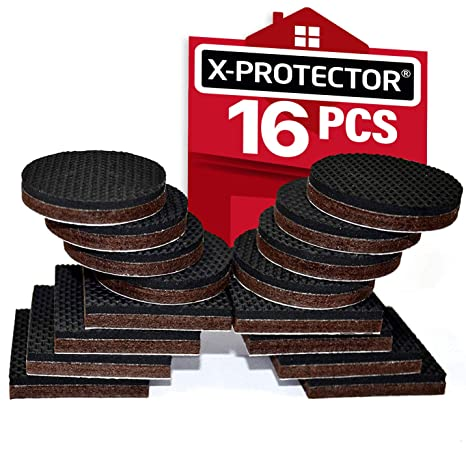 "X-PROTECTOR Furniture Grippers Premium 24 pcs 2"" Furniture Pads"