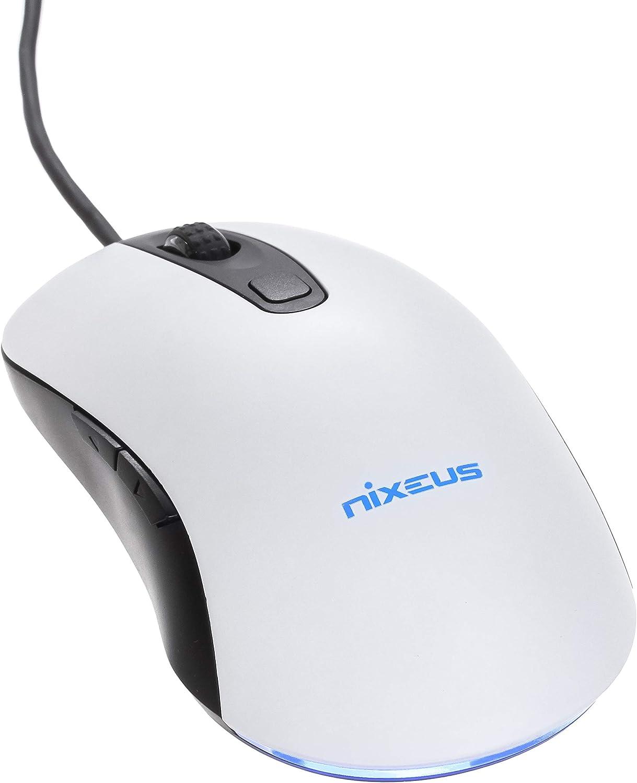 Nixeus Revel Gaming Mouse PMW 3360 for Windows & Mac OS, Matte White