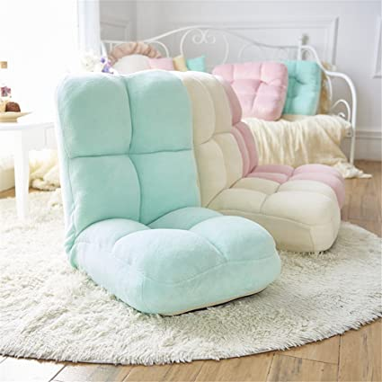 Adjustable Memory Foam Folding Chair Gaming Sofa Seat (Green)