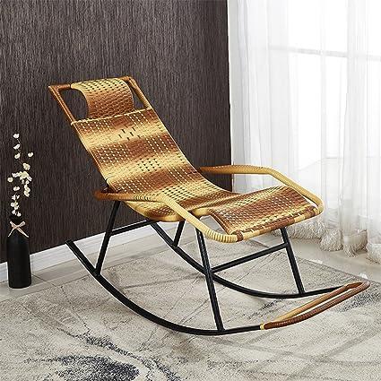 Amazon.com: GLJ Rocking Chair Cane Chair Adult Siesta Lounge ...