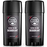 Natural Deodorant for Men - Aluminum Free Mens Deodorant. Odor Protection and Freshness with All Natural Tea Tree Deodorant f