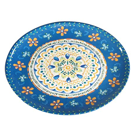 Large Oval Dinner Plate Melamine Tray - Yinshine 16 Inch Outdoor C&ing Dessert Plate  sc 1 st  Amazon.com : oval dinner plates set - pezcame.com
