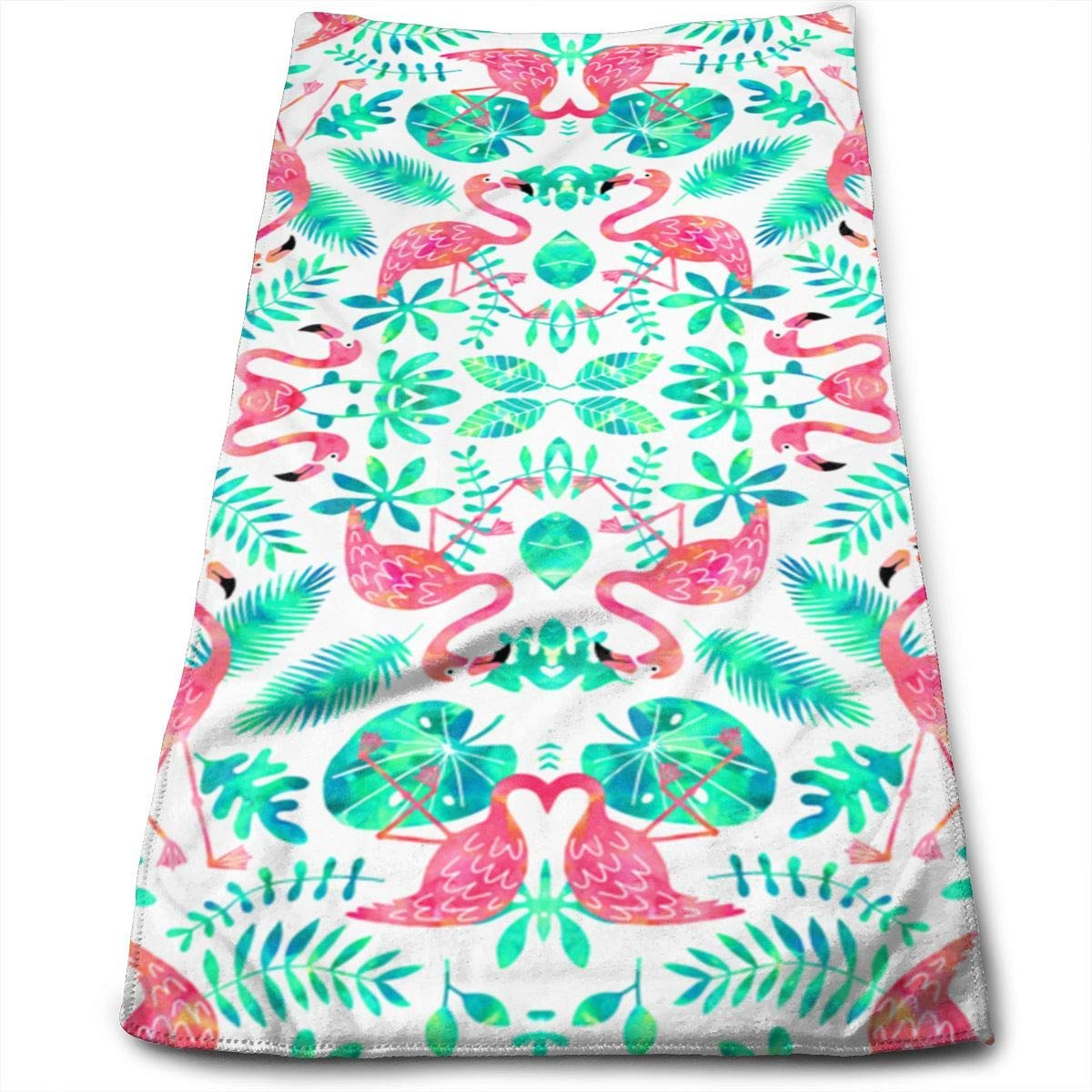 OQUYCZ Flamingo Jungle White Mint Microfiber Bath Towels,Soft, Super Absorbent and Fast Drying, Antibacterial, Use for Sports, Travel, Fitness, Yoga