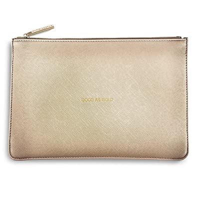 Katie Loxton The Perfect Pouch Good As Gold Metallic Gold