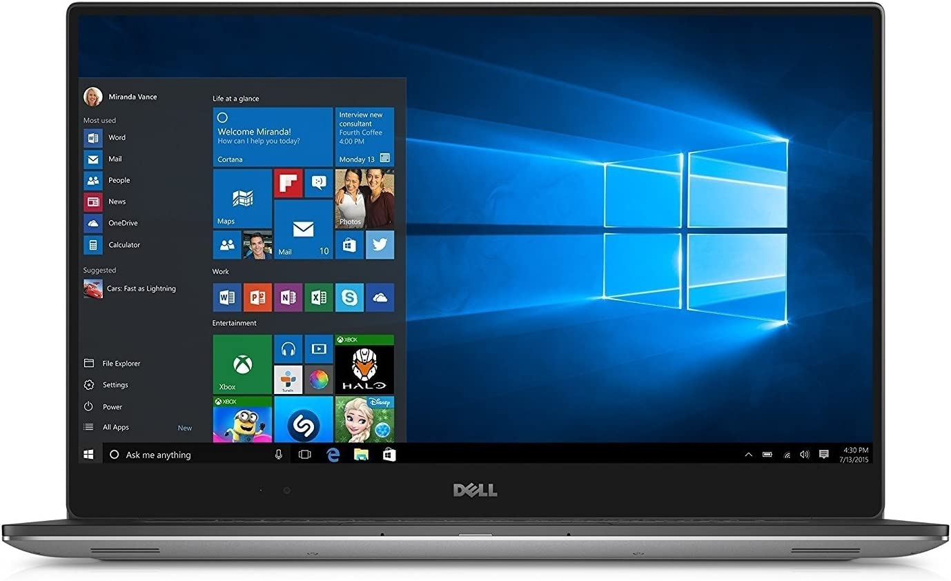 "Dell XPS 15 - 9560 Intel Core i7-7700HQ X4 2.8GHz 16GB 512GB SSD 15.6"", Silver (Scratch and Dent) (Certified Refurbished)"