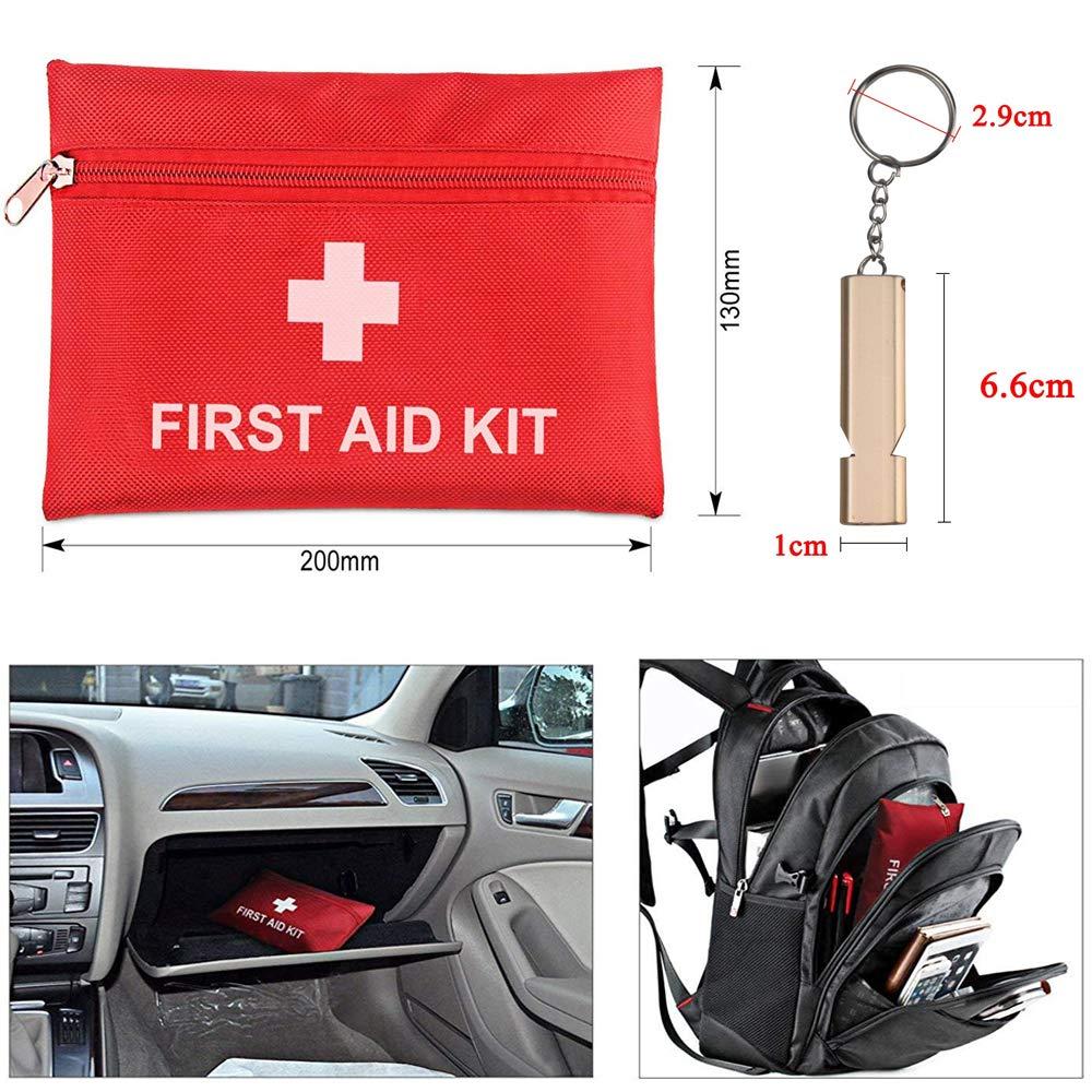 Erste Hilfe Set Wandern, Homeet 37 Teiliges Notfalltasche Wasserdicht Erste Hilfe Tasche Outdoor mit Abpfiff für Camping, Reisen, Fahrzeug First Aid