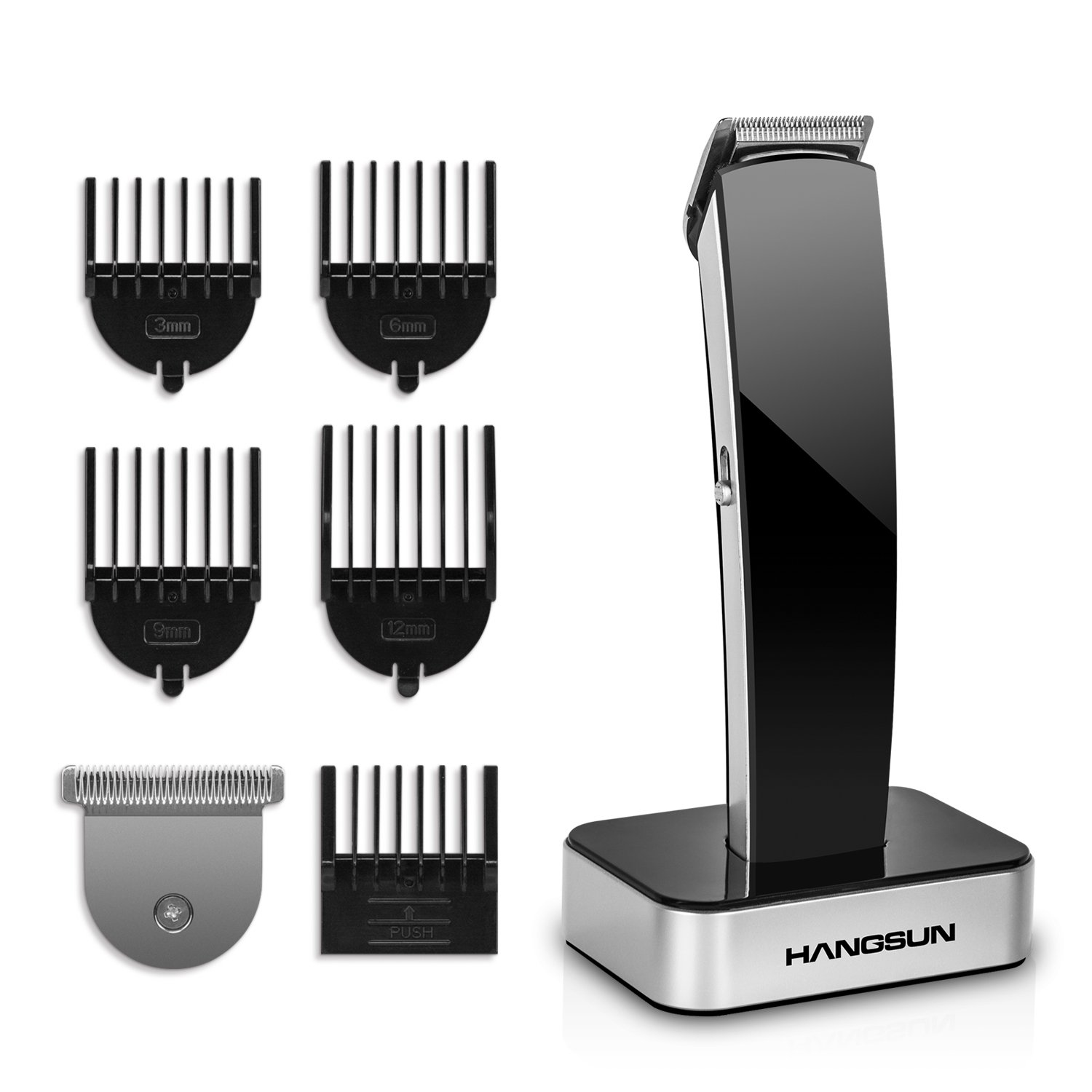 Hangsun Beard Trimmer Rechargeable HC360 Hair Trimmer Cordless Hair Clippers Electric Shaver Body Groomer Kit with Interchangeable T and U Blades, 5 Blade Combs, Cleaning Brush