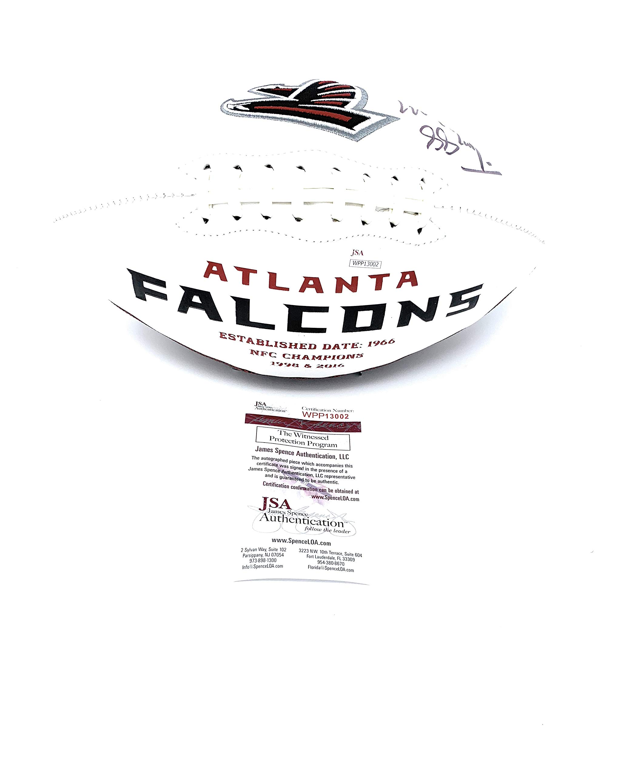 Tony Gonzalez Atlanta Falcons Signed Autograph Embroidered Logo Football JSA Wintessed Certified