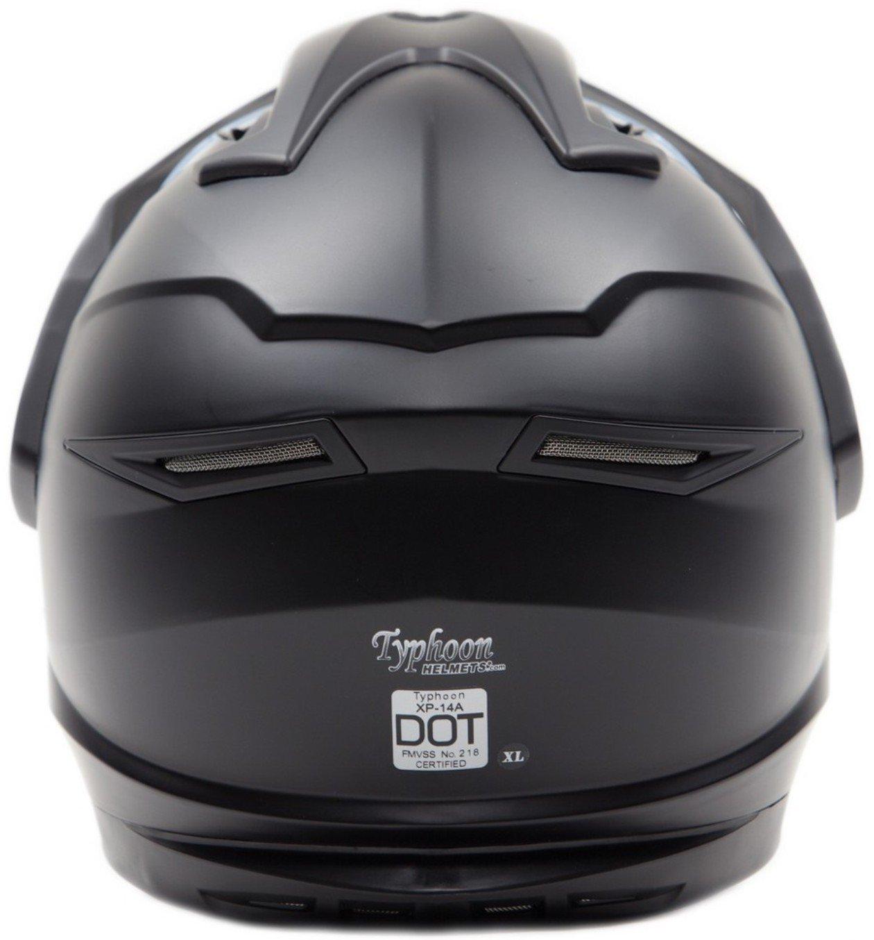 Dual Sport Snocross Snowmobile Helmet w/ Electric Heated Shield - Matte Black - XL by Typhoon Helmets (Image #4)