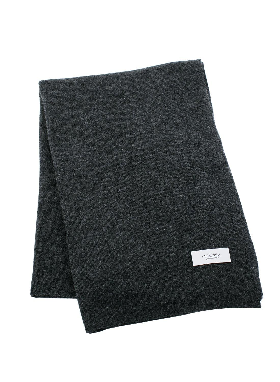 Charcoal 100% Cashmere Knit Shawl Men Gift Scarves Wrap Blanket F0424B1-4
