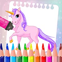 Little Unicorn Animated Rainbow Coloring Book For Kids