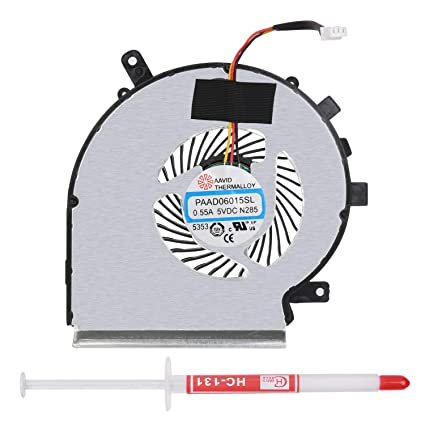 FanEngineer Generic New Laptop CPU Cooling Fan For MSI GE62 GE72 GL62 GL72  PE60 PE70 Series Replacement Parts PN:PAAD06015SL N303
