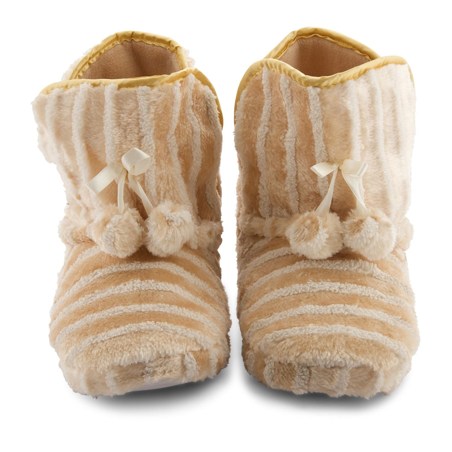 LADIES LUXURY SLIPPERS WOMENS QUILTED WINTER BOOTS ANKLE BOOTIE FUR SHOES SIZE