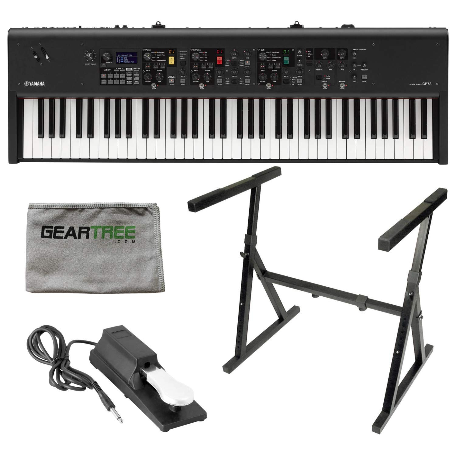 Yamaha CP73 73 Key Stage Piano w/Stand, Sustain Pedal, and Cloth by YAMAHA