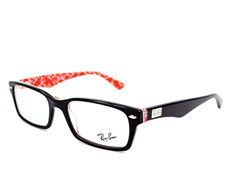 e9e3073a36 Ray-Ban Eyeglasses RX 5206 2479 52mm Black on Texture Red + SD Glasses +  Cleaner  Amazon.co.uk  Clothing