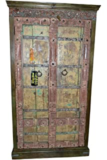 antique hand carved furniture distressed reclaimed cabinet indian armoire antique distressed furniture