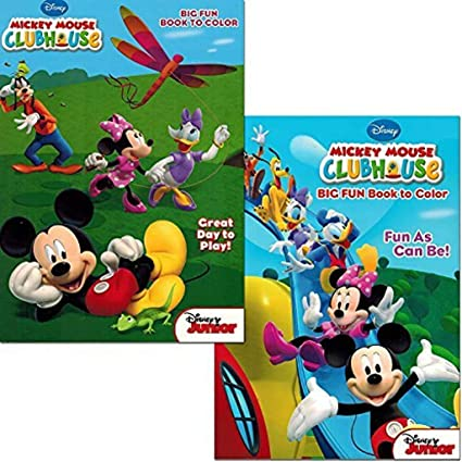 - Amazon.com: Mickey Mouse Clubhouse Coloring Book Set (2 Books - Mickey Mouse  And Minnie Mouse): Toys & Games